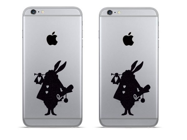 Alice in Wonderland rabbit decals for phone