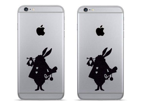 Alice in Wonderland rabbit decals for phone