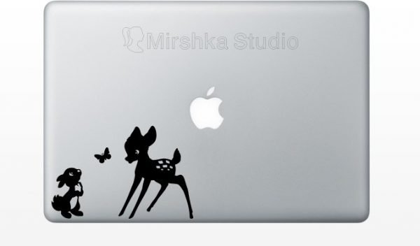 Bambi and Thumper mac decal