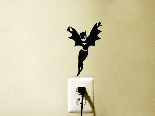 Batgirl Fabric Wall Sticker