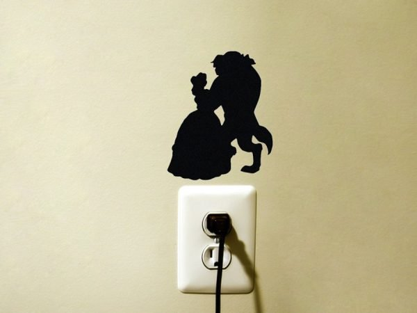 Beauty and the Beast Belle & Gaston decal
