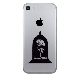 Beauty and the Beast rose dome iPhone stickers