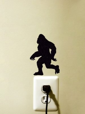 Bigfoot Silhouette fabric sticker