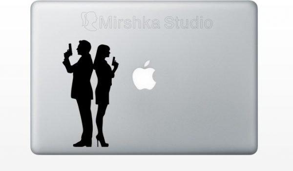 Bond girl macbook sticker