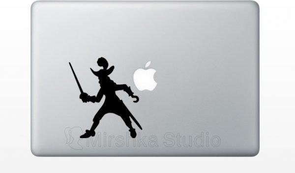Captain Hook pirate mac sticker