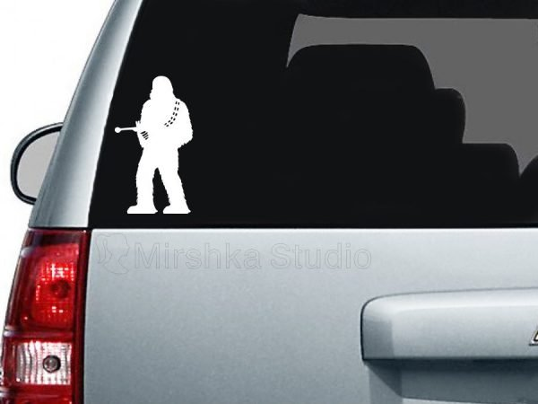 Chewie car decal