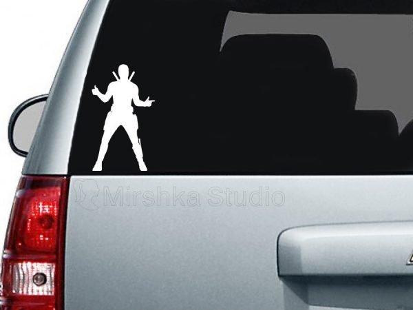 Deadpool Marvel car sticker