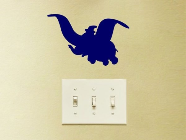 Dumbo light switch sticker