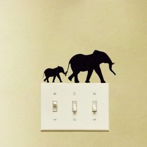 Elephant nursery decor sticker