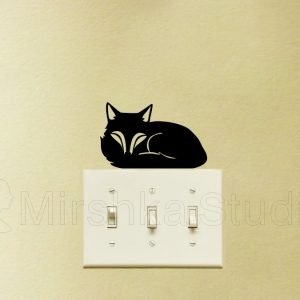 Fox wall art light switch sticker