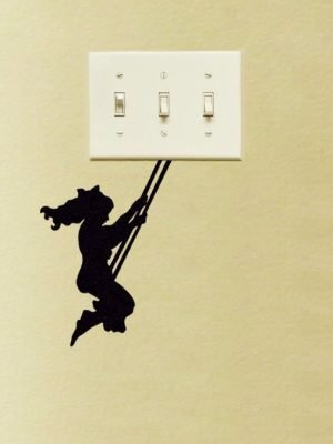 Girl on Swing Wall Sticker