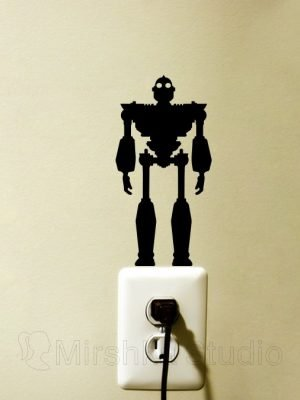Iron Giant art sticker