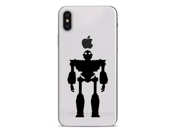 Iron Giant inspired iphone 10 sticker
