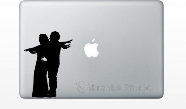 Jack and Rose Titanic macbook decal
