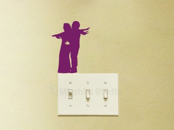 Jack and Rose light switch decal