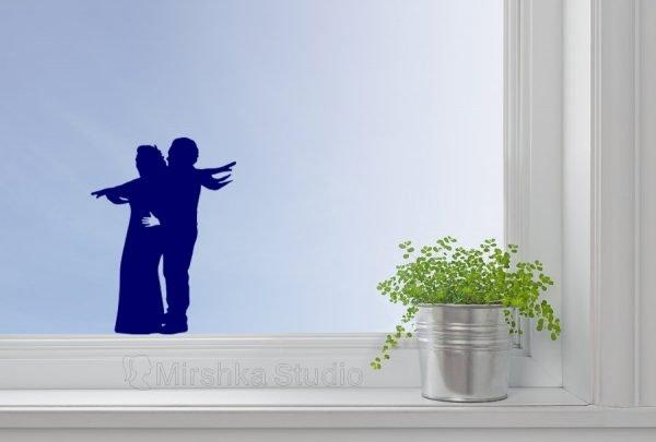Jack and Rose window decor