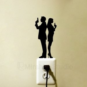 James Bond & Bond girl wall sticker