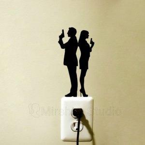 James Bond & Bond girl wall sticker
