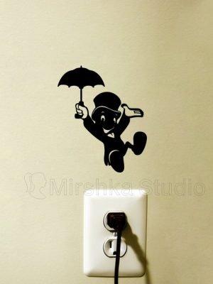 Jiminy Cricket wall sticker