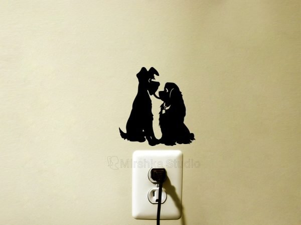 Lady and the Tramp light switch sticker