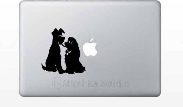 Lady and Tramp mac sticker