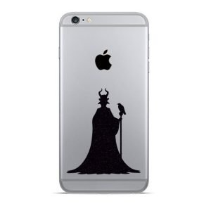 Maleficent iPhone decal