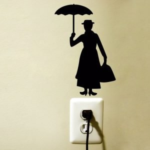 Mary Poppins Silhouette sticker