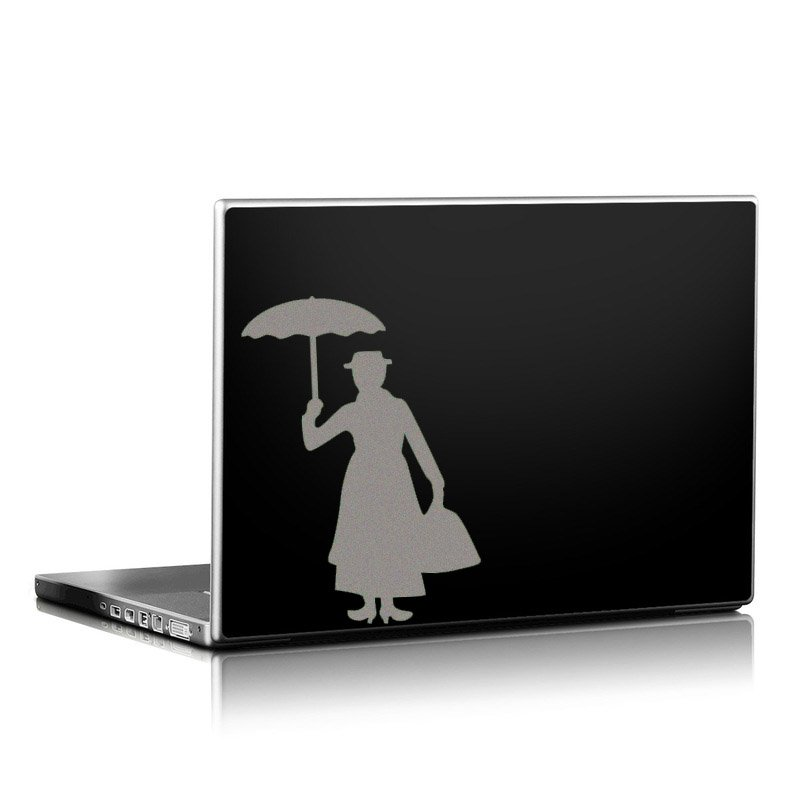 White Mary Poppins Sticker Vinyl Decal Car Laptop Door Window Wall Decor Black