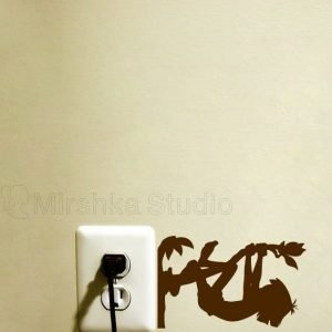 Mowgli Jungle Book light switch decal