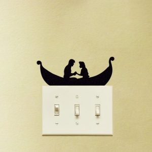 Rapunzel and Flynn tangled wall decal