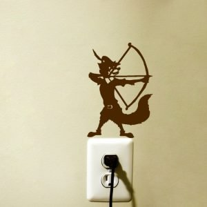 Robin Hood Bow and Arrow Fabric Wall Sticker