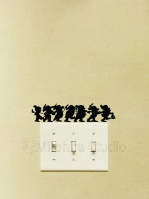 Seven Dwarfs light switch sticker