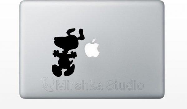 Snoopy dancing mac sticker