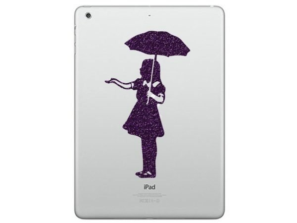 Umbrella Girl ipad sticker