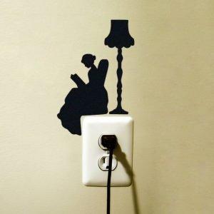 Victorian silhouette sticker