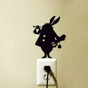 White Rabbit Alice in Wonderland wall sticker