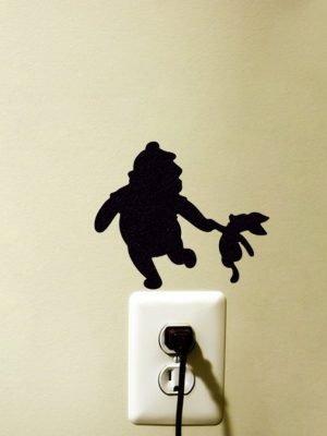 Winnie the Pooh and Piglet sticker