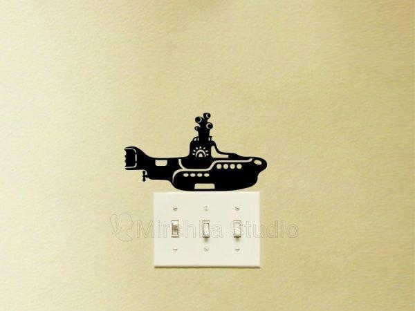 Yellow Submarine Art Sticker