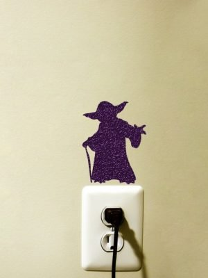 Yoda light switch sticker