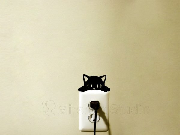 adorable cat light switch decor