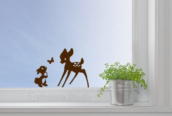 bambi window decor
