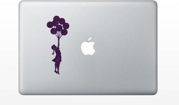 banksy balloon macbook decor