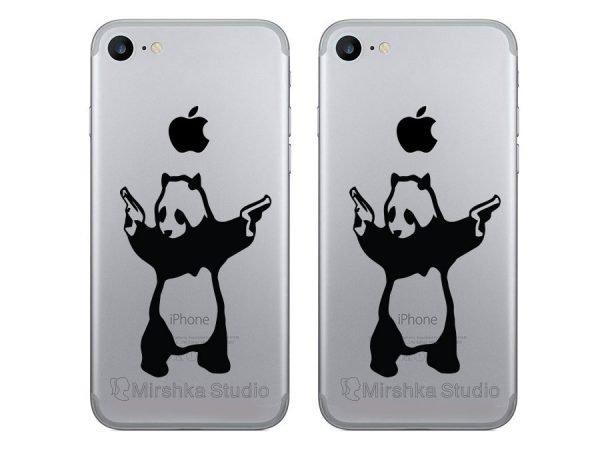 banksy panda iphone stickers