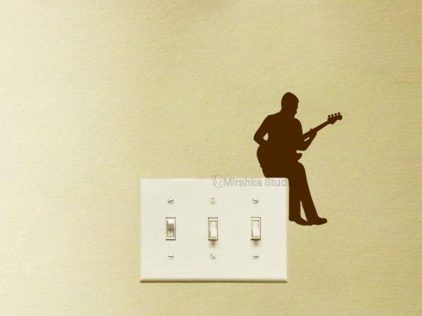 bass guitar wall decal
