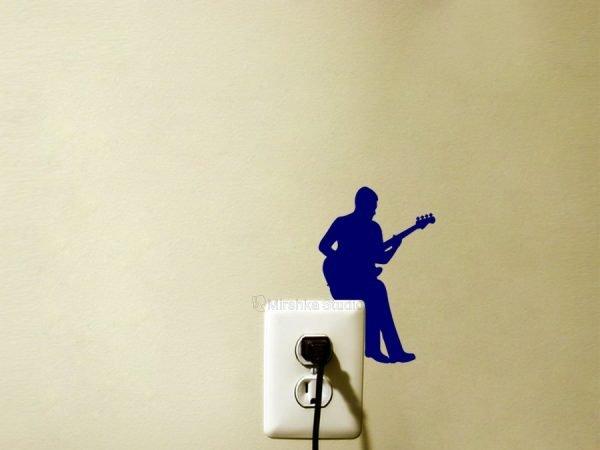 bass player wall sticker