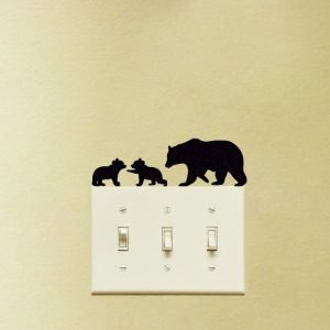 bear decor sticker