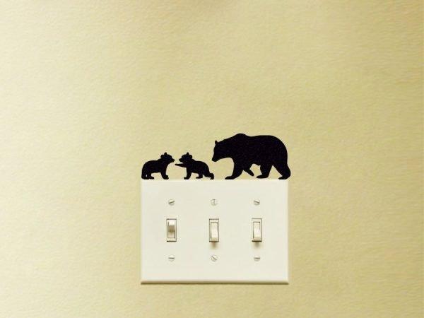 bear decor sticker