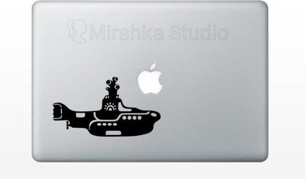 beatles macbook sticker