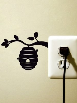 bees decor wall sticker