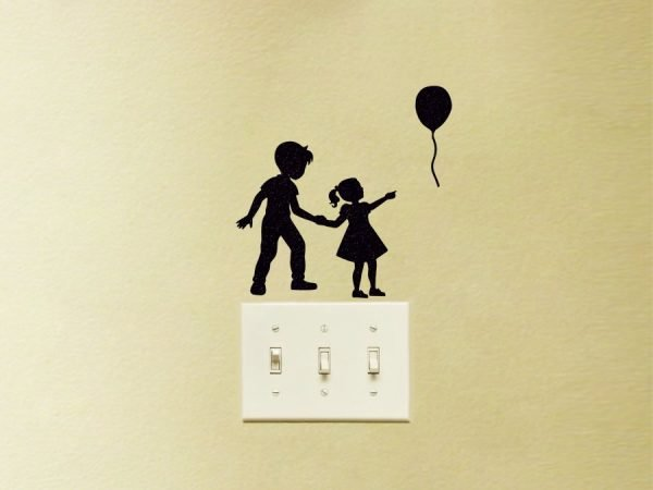 big brother and little sister wall sticker